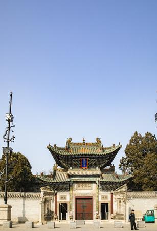 Shanshan guild hall in Liaocheng ancient city at Shandong province, China. Redactioneel
