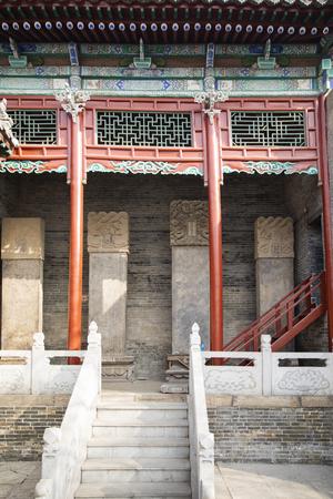 Stone tablet in Shanshan guild hall at Liaocheng ancient city at Shandong province, China.