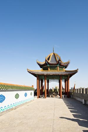 China, Xinjiang, Hami City ancient pavilion