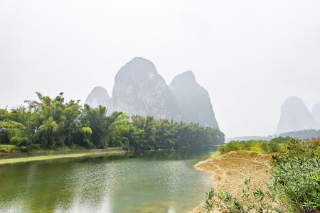 China, Guangxi, Guilin, Yangshuo River scenery