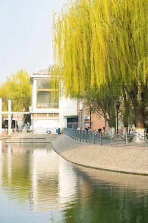 China, Hebei Province, Shijiazhuang City, urban landscape architecture Imagens