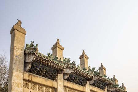 China, Henan Province, Anyang City, Yuan Lin Memorial Arch Editorial