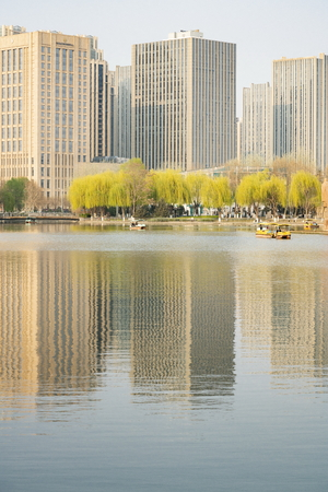 China, Hebei Province, Shijiazhuang City, urban landscape architecture Editorial