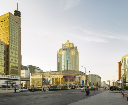 China, Hebei Province, Shijiazhuang City, urban architecture scenery