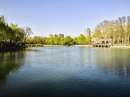 China, Hebei Province, Shijiazhuang City, Yuxi Park Garden Scenery