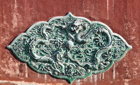 chinese traditional dragon relief sculpture