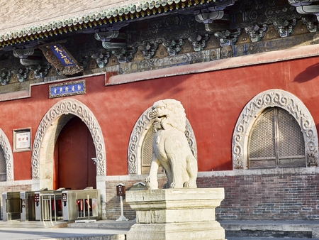 Longxing Temple, Hebei Province, China Editorial