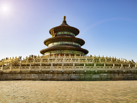 Temple of Heaven Park, World Cultural Heritage, Beijing, China.