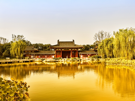 China, Shaanxi Province, Xian City, Linyi District, Huaqing Pool Scenic Area 에디토리얼