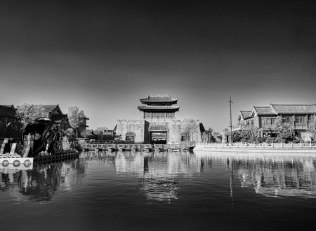 China, Henan Province, Kaifeng City, ancient town scenery