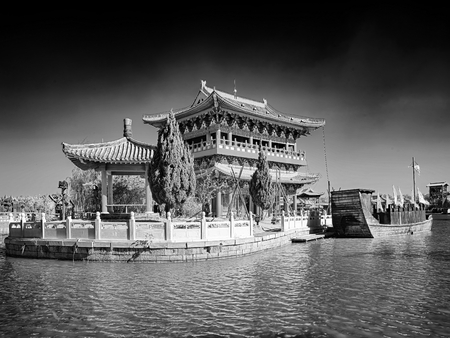 China, Henan Province, Kaifeng City, Qingming Shanghe Garden