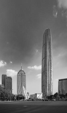 China, Tianjin, urban architecture 版權商用圖片 - 129660251