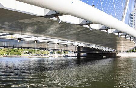 China, Tianjin, Haihe Bridge 版權商用圖片
