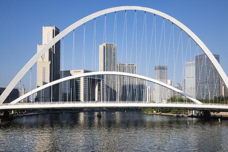 China, Tianjin, Haihe Bridge 新聞圖片