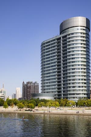 China, Tianjin, Haihe scenery 版權商用圖片 - 129746106