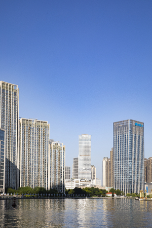 China, Tianjin, Haihe scenery
