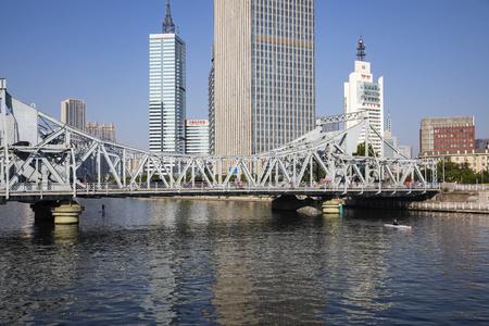 China, Tianjin, Haihe Jiefang Bridge 新聞圖片