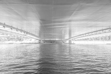 China, Tianjin, under the Haihe Bridge 版權商用圖片