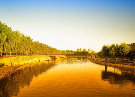 China, Hebei Province, Shijiazhuang City, Zhengding Ancient City Moat