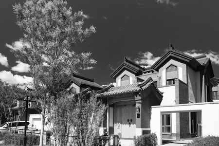 China, Hebei Province, Baoding City, a villa area in Wuyuan County