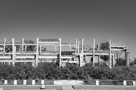 China, Hebei Province, Tangshan City, Earthquake Relics Park 報道画像