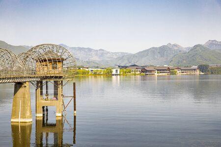 Yanqi Lake Scenic Area Beijing, China.