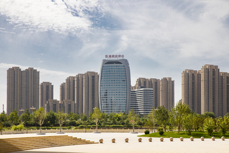 Urban architectural scenery at Baoding City, Hebei Province, China. Editorial
