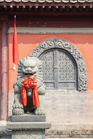 China, Hebei Province, Shijiazhuang City, Zhengding Ancient City, Linji Temple Stock Photo