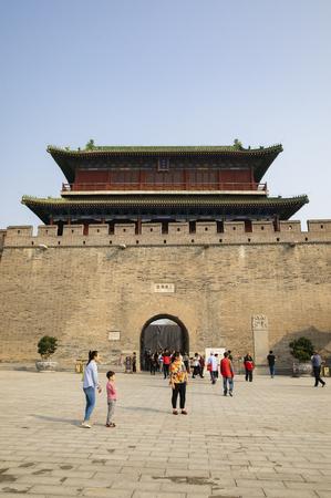 China, Hebei Province, Shijiazhuang City, Zhengding Ancient City, Zhengding Ancient City, Changlemen Stock Photo - 132991900