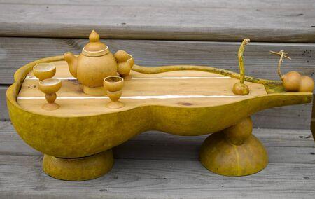 gourd Tea set Stock Photo