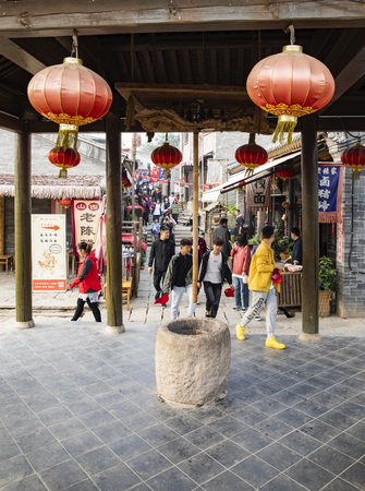 China, Shijiazhuang City, Hebei Province, Tumen ancient town Stock Photo - 133075860