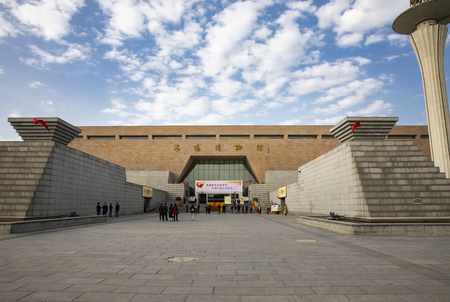 China, Henan Province, Luoyang City, Luoyang Museum, interior of the building Stock Photo - 133268225
