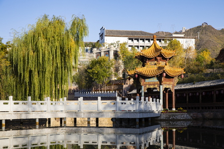 China, Hebei Province, Shijiazhuang City, West Changqing Tourism scenic area Editorial