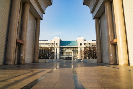 China, Hebei Province, Shijiazhuang, Hebei University of Economics and Trade, teaching building Editorial