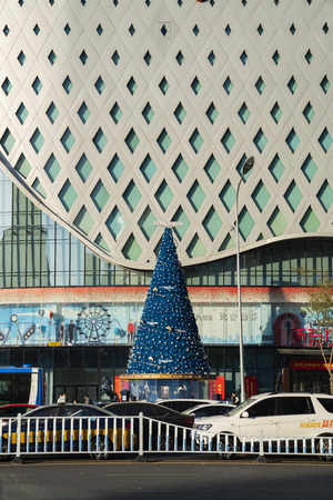 Christmas decorations in a shopping mall in Shijiazhuang, Hebei, China