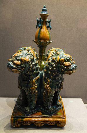 China, Shanxi Province, Jinzhong City, Jinzhong Museum, Cultural Relics, Four Lions