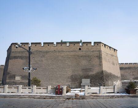 City Wall at Pingyao Ancient City, Jinzhong City, Shanxi Province, China.
