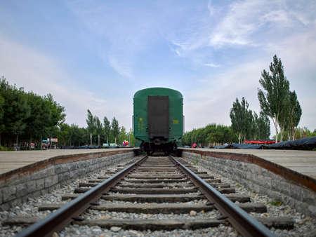 China, Hebei Province, Shijiazhuang City, Zhengding County, Futuo River Wetland Park, steam train