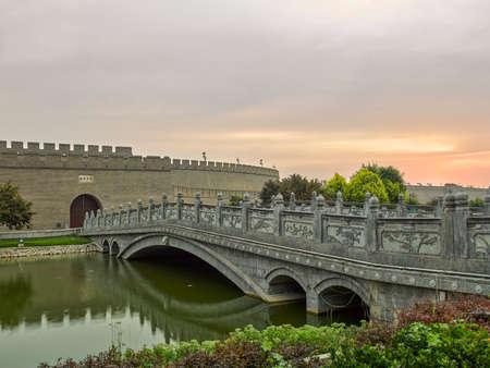 China, Hebei Province, Shijiazhuang City, Zhengding County, Zhengding Ancient City Stock fotó - 154377692