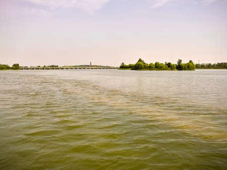 Futuo River Wetland Park at Shijiazhuang City, Zhengding County, Hebei Province, China. Stock fotó