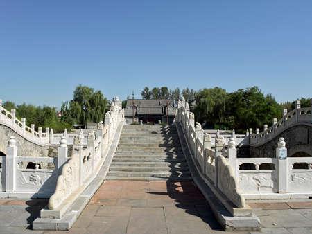 China, Shanxi Province, Jinzhong City, Shouyang County, Qiliao Hometown Scenic Spot, Stone Bridge