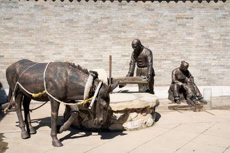 China, Shanxi Province, Jinzhong City, Shouyang County, Qiliao Hometown Scenic Spot, Statue