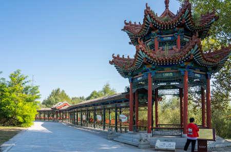 China, Shanxi Province, Jinzhong City, Shouyang County, Qiliao Hometown Scenic Area, Long Corridor