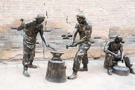 China, Shanxi Province, Jincheng City, Yangcheng County, Guoyu Ancient City, Bronze Sculpture
