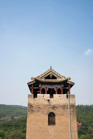 China, Shanxi Province, Jincheng City, Yangcheng County, Huangcheng Xiangfu Tourist Area, Heshan Tower Imagens