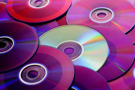 Blue discs alley a green disc. Stock Photo - 3958639