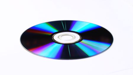 CD or DVD on white bacground