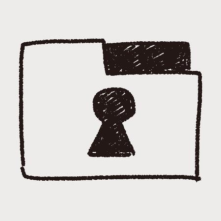 folder lock: doodle lock folder