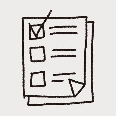 paper checking list doodle drawing Ilustração