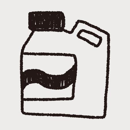 laundry detergent: Laundry detergent doodle drawing